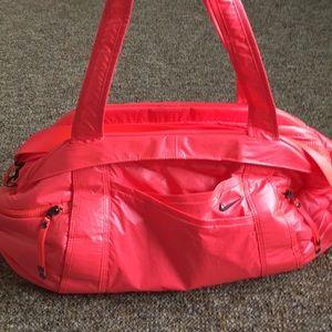 Neon pink Nike gym bag